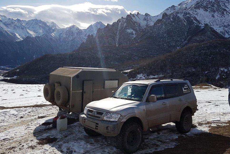 Наш лагерь в Верхней Балкарии.