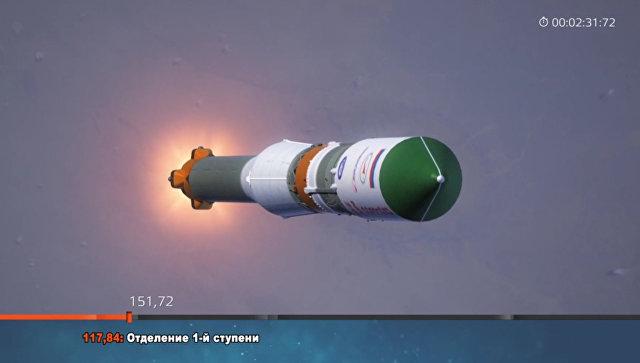 """Ракета """"Союз-ФГ"""" успешно вывела грузовой корабль """"Прогресс МС-10"""" на орбиту"""