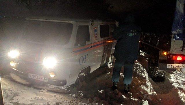 На Кубани частично расчистили автодороги от снежных наносов