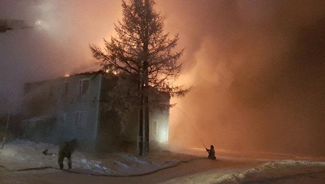 В МЧС назвали возможную причину пожара в жилом доме на Ямале