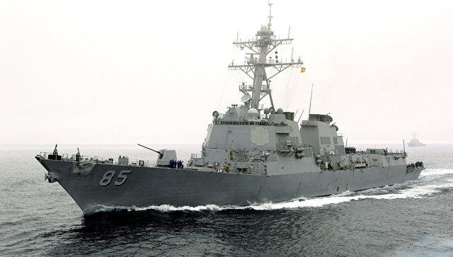 Ракетный эсминец ВВС США McCampbell. Архивное фото