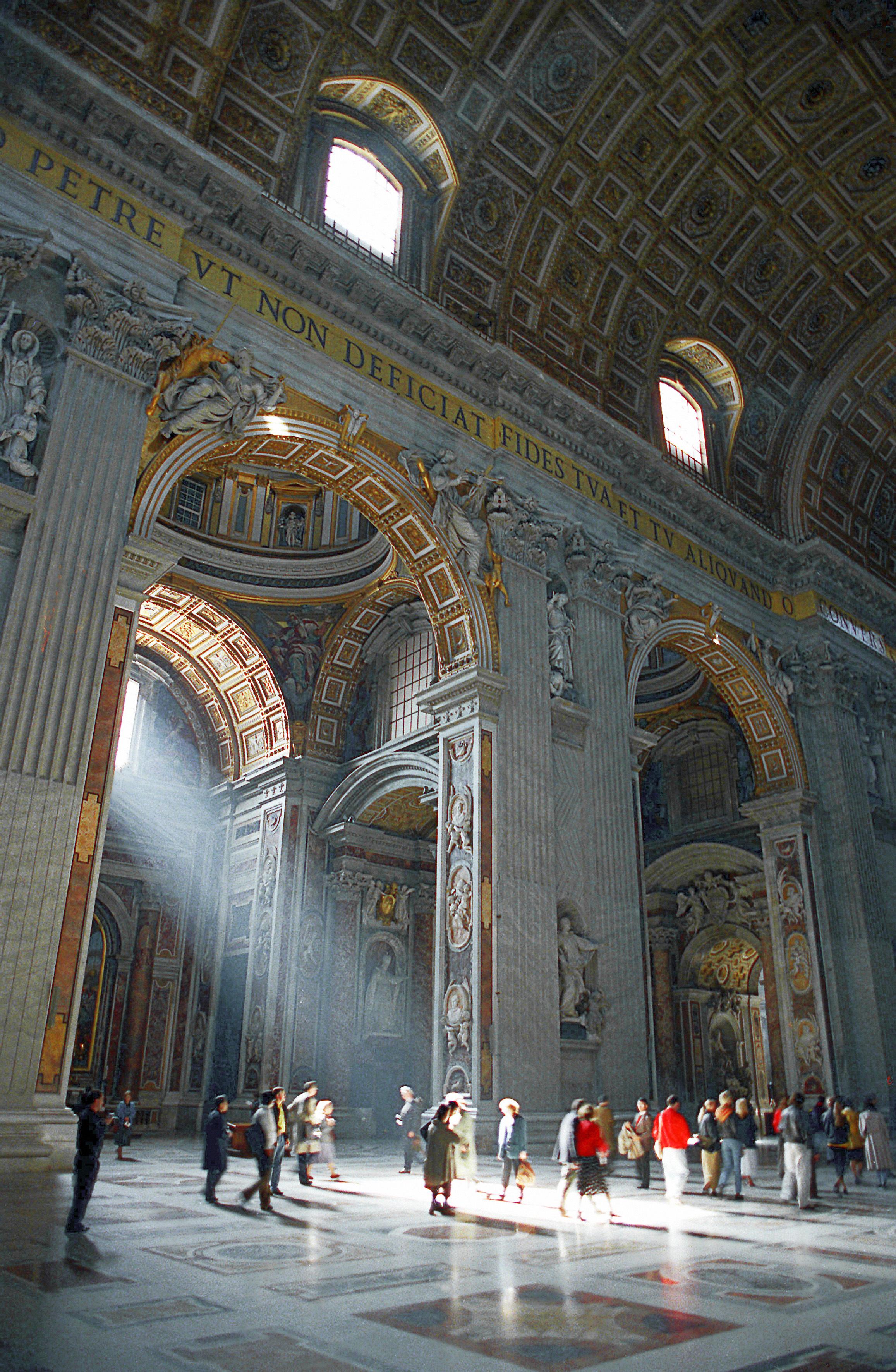 В соборе Святого Петра в Ватикане
