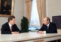 Встреча Владимира Путина с Алексеем Миллером в Санкт-Петербурге