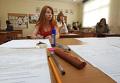 Сдача ЕГЭ по русскому языку в одной из школ Москвы