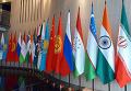 Флаги стран участников ШОС