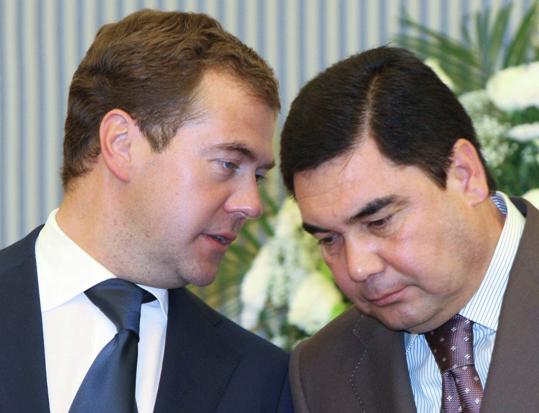 Встреча президента России Дмитрия Медведева и президента Туркмении Гурбангулы Бердымухамедова