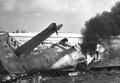 Сбитый фашистский самолет