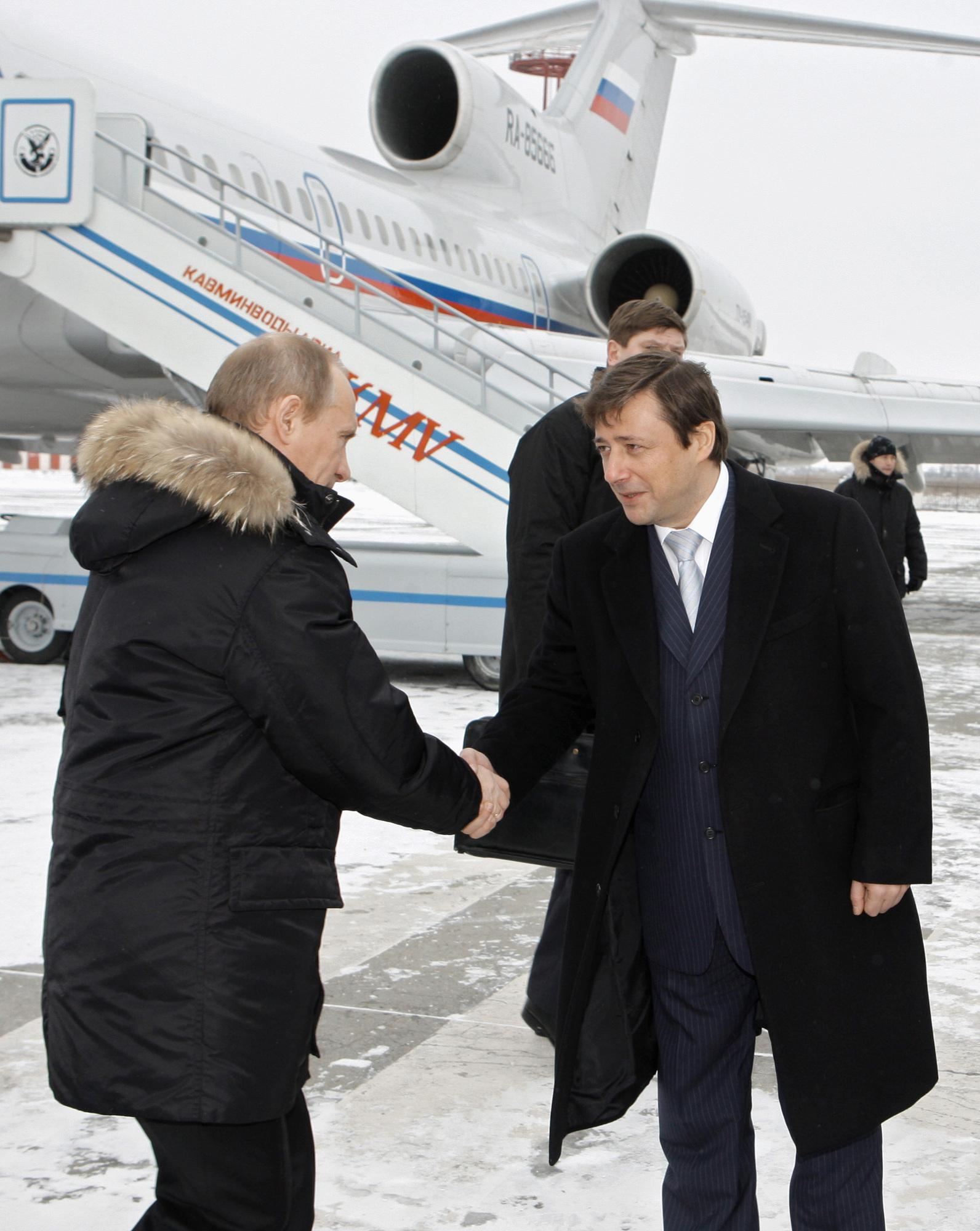 Премьер-министр РФ Владимир Путин прибыл с рабочей поездкой в Пятигорск