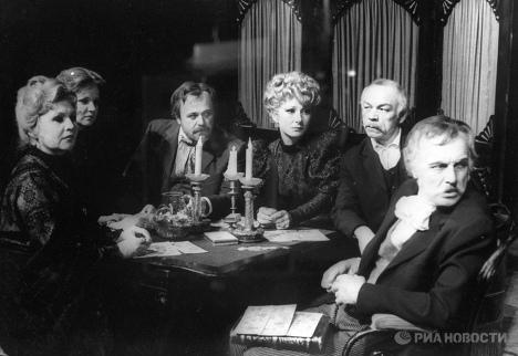 Сцена из спектакля Чайка по одноименной пьесе А.П. Чехова