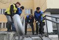 Первый в Московской области пандус для инвалидов