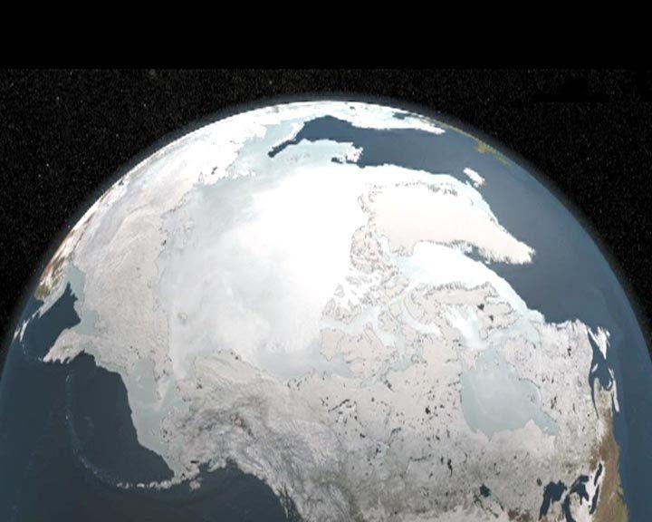 Модель изменения площади льда в Арктике