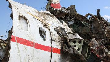 Обломки польского правительственного самолета Ту-154. Архивное фото
