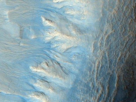 Снимок поверхности Марса, полученный камерой HiRISE