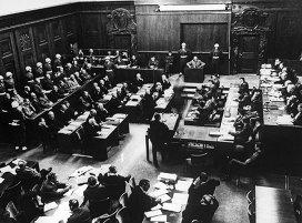 Одно из заседаний Международного военного трибунала во время Нюрнбергского процесса