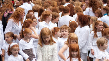 Фестиваль рыжих в городе Бреда, в Голландии. Архив
