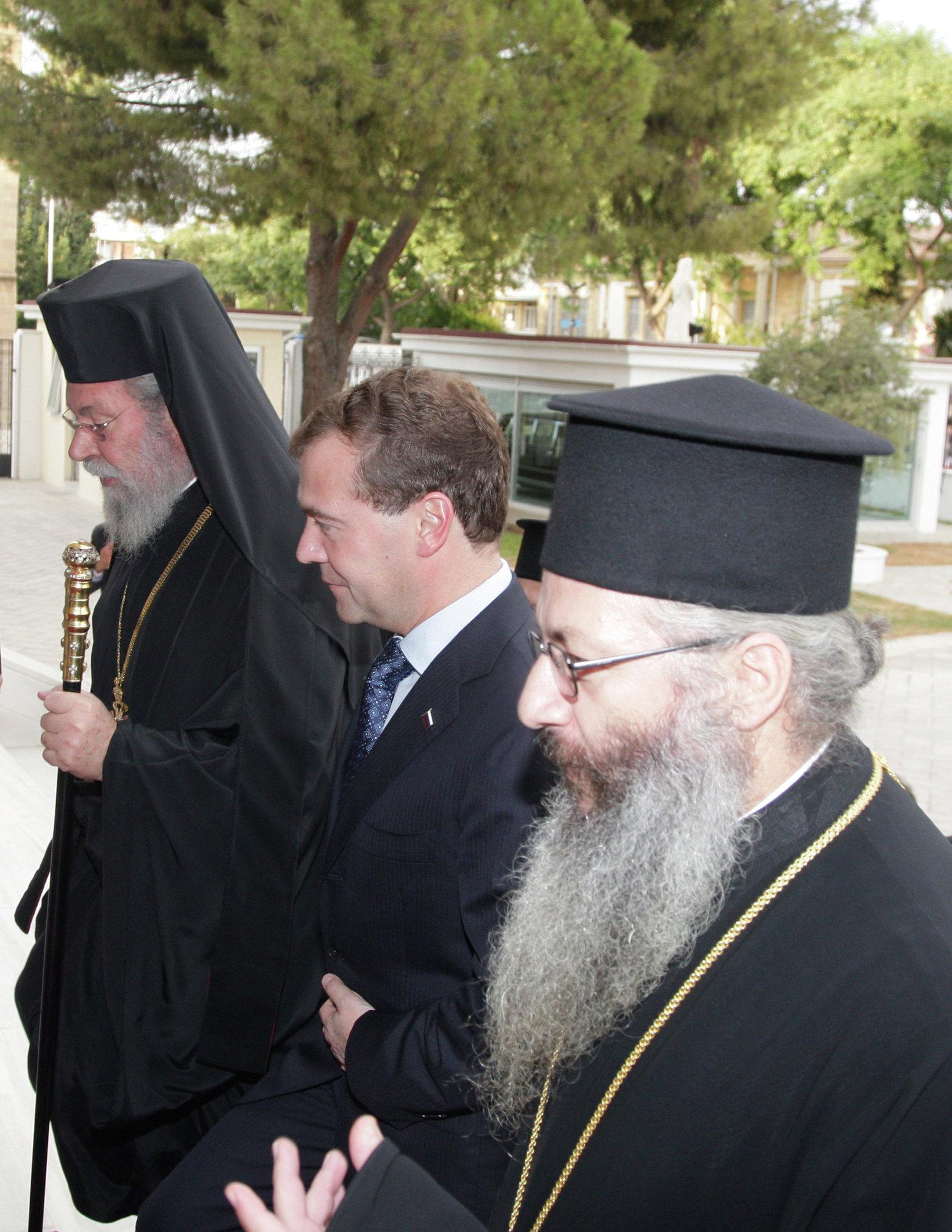 Президент РФ Д.Медведев встретился с архиепископом Хризостом II