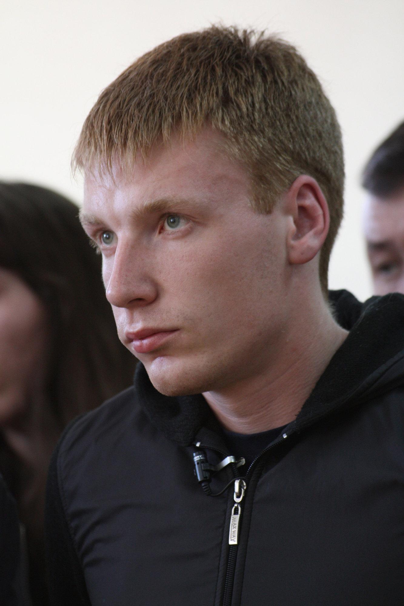 Глава фонда Город без наркотиков Егор Бычков в зале Дзержинского районного суда Нижнего Тагила во время оглашения приговора