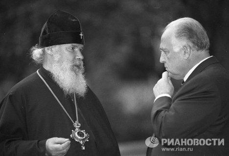 Виктор Черномырдин и Алексий II