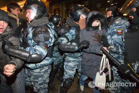 Ситуация на площади Киевского вокзала в Москве