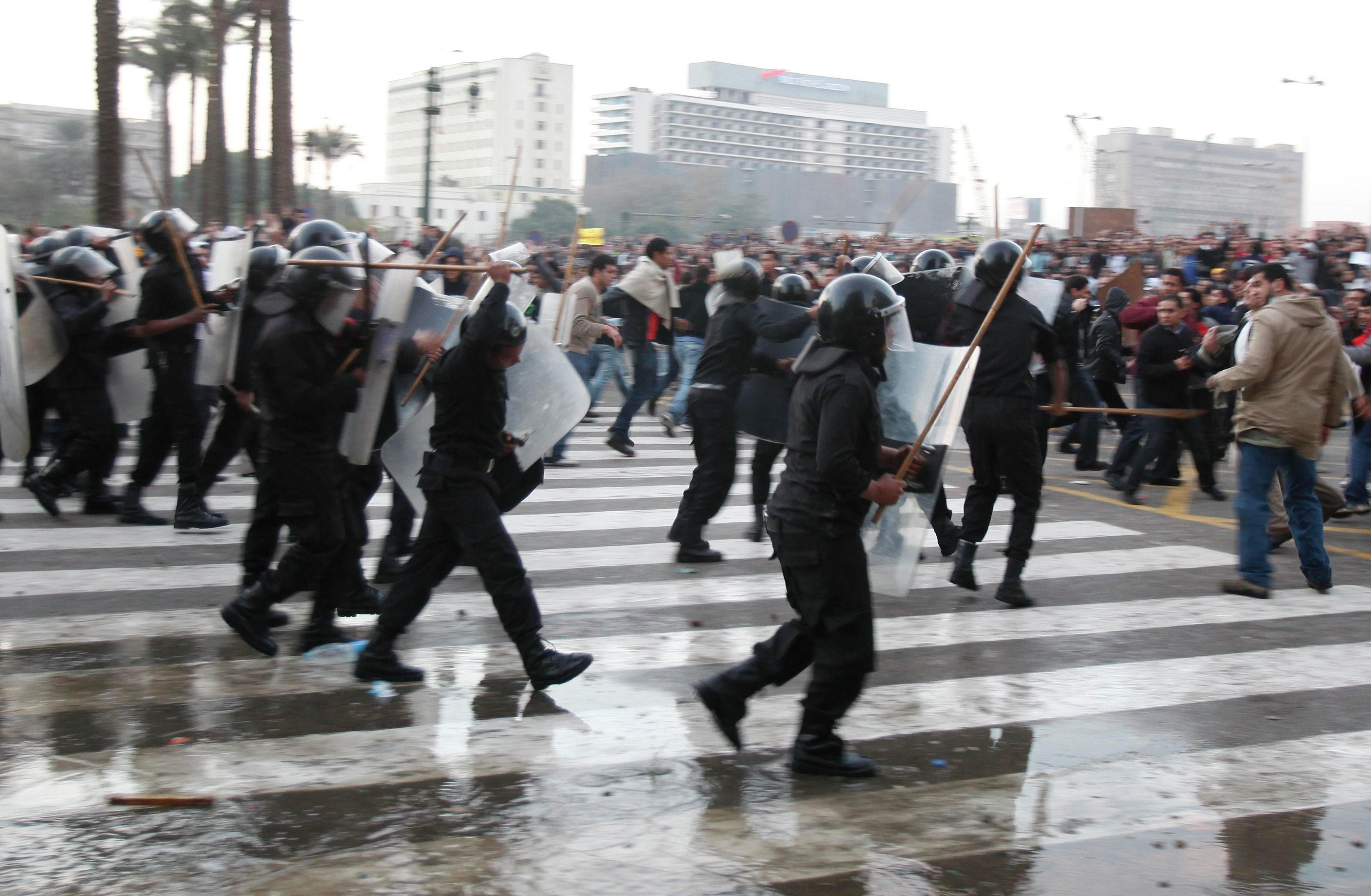 Беспорядки в центральной части Каира