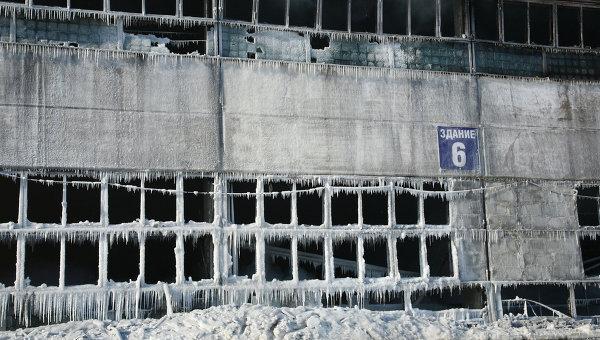 Последствия пожара на складе в Перми
