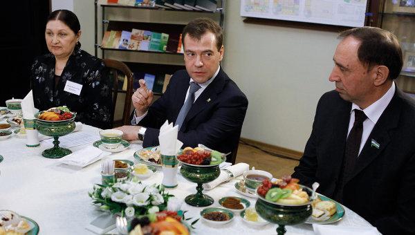 Встреча Дмитрия Медведева с руководителями национально-культурных объединений и учеными-этнографами Башкортостана