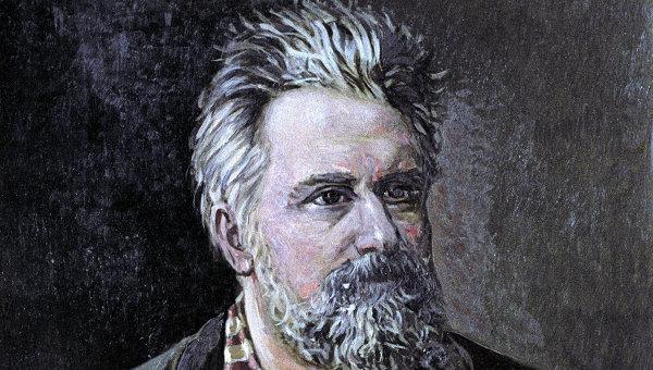 Николай Семёнович Лесков (1831-1895). Портрет работы художника И.А.Банистера. Масло, 1890 г.