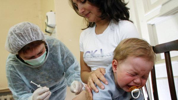 Работа прививочного кабинета детской поликлиники