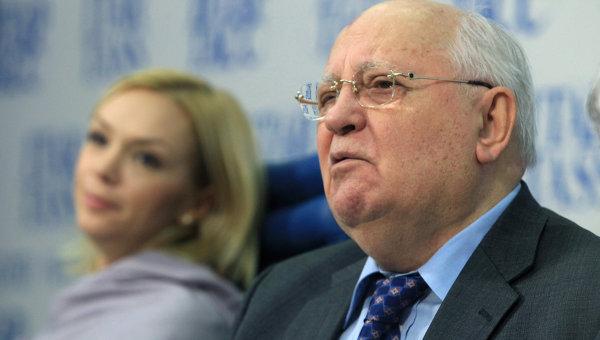 Пресс-конференция первого президента СССР Михаила Горбачева