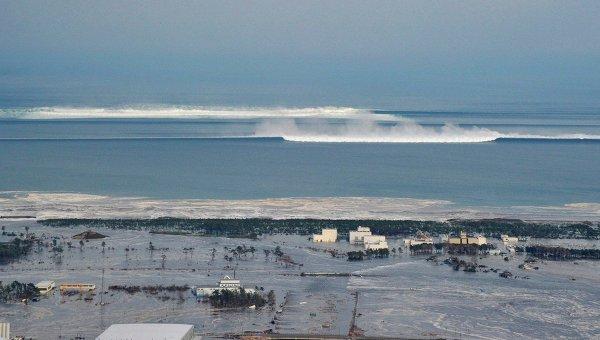 Последствия землетрясения и цунами в японской префектуре Миага