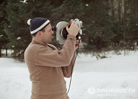 Летчик-космонавт Гагарин