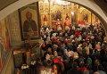 Ночное пасхальное богослужение в Сочи