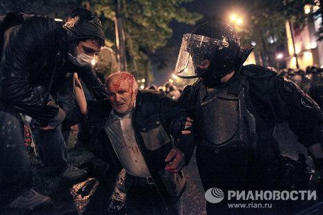 Image result for разгон митинга в тбилиси 2011 фото
