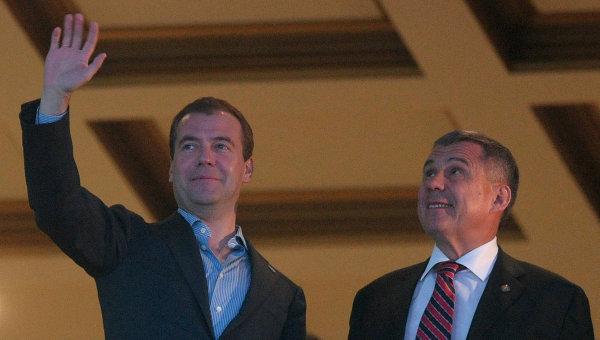 Президент РФ Д.Медведев посетил скачки в Казани