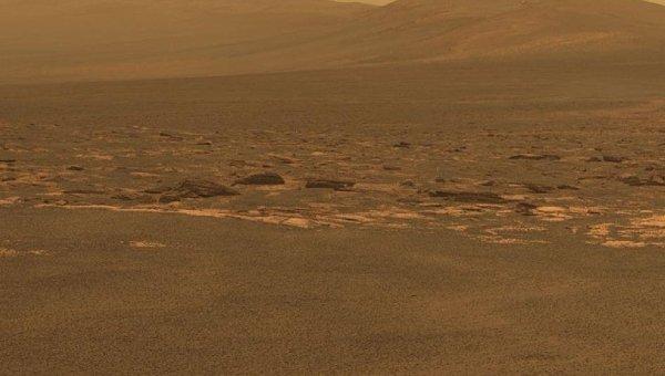 Западный край кратера Индевор на Марсе. Фото с марсохода Оппортьюнити