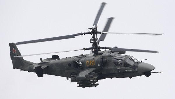 Многоцелевой всепогодный боевой вертолет Ка-52 Аллигатор