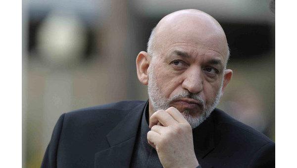 Действующий президент Афганистана Хамид Карзай
