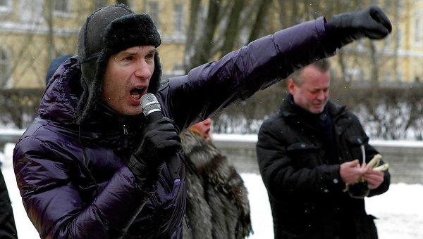 Николай Бондарик на митинге националистов в Петербурге. Архивное фото