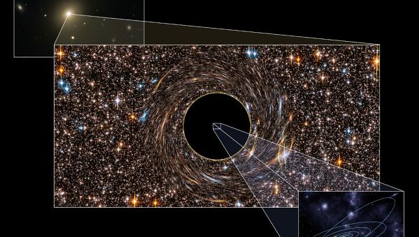 Черная дыра в галактике NGC 3842, чей радиус превышает расстояние от Солнца до Плутона в семь раз