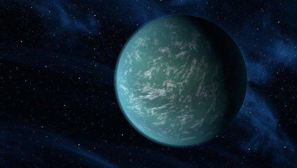 Планета Kepler-22b глазами художника