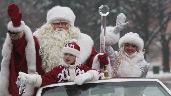 Встреча Деда Мороза на Соборной площади в 2011 году