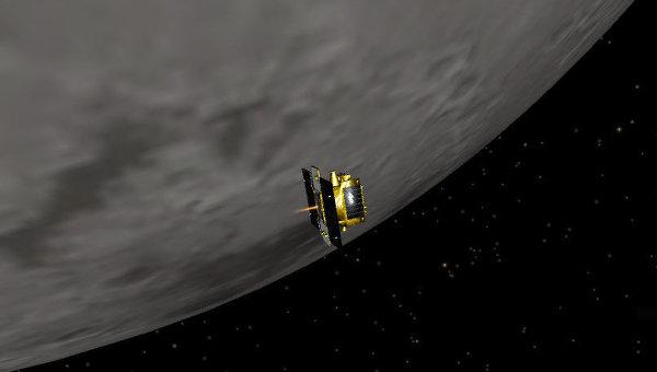 Зонд GRAIL на окололунной орбите