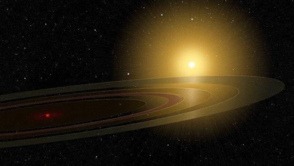 Система сатурнианских колец вокруг объекта у звезды 1SWASP J140747.93-394542.6 глазами художника