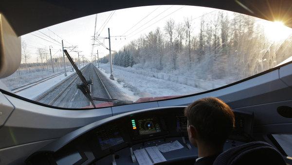 Кабина поезда. Архивное фото
