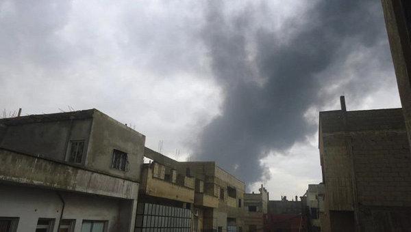 Взрыв на нефтепроводе в сирийской провинции Хомс