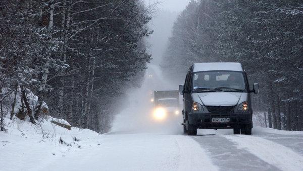 Зимняя дорога. Архивное фото