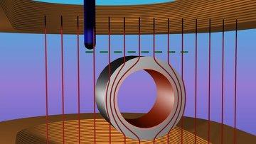 Магнитный плащ-невидимка в поле двух постоянных магнитов
