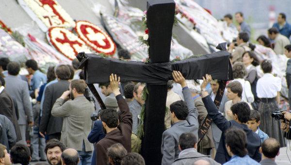 Народное шествие в День памяти жертв геноцида. Архивное фото