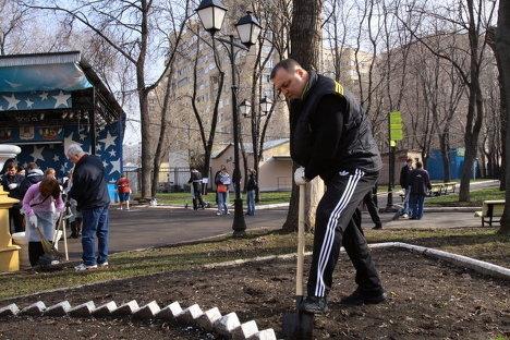 Субботник в Москве