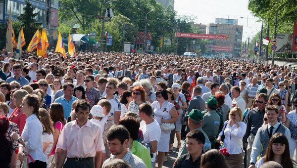 Празднование 67-й годовщины Победы в Курске